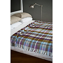 Buy Avoca Autumn Check Lambswool Throw Online at johnlewis.com