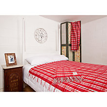 Buy Avoca Scottie Wool Throw, Red Online at johnlewis.com