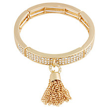 Buy Adele Marie Half Set Diamante and Tassel Bracelet, Gold Online at johnlewis.com