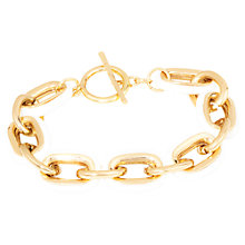 Buy Adele Marie Gold Plated White Chunky Chain Bracelet, Gold Online at johnlewis.com