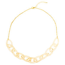 Buy Adele Marie Gold Crystal Chunky Mesh Necklace, Gold Online at johnlewis.com