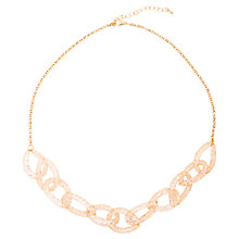 Buy Adele Marie Rose Gold Chunky Mesh Crystal Necklace, Rose Gold Online at johnlewis.com