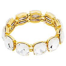 Buy Adele Marie Gold Plated Crystal Glass Elasticated Bracelet, Gold Online at johnlewis.com