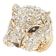 Buy Adele Marie Diamante Cluster Panther Stretch Ring Online at johnlewis.com