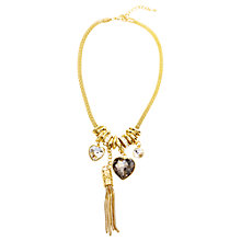 Buy Adele Marie Gold Mesh Rings Hearts & Tassel Necklace, Gold Online at johnlewis.com
