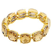 Buy Adele Marie Gold Plated Topaz Elasticated Bracelet, Gold Online at johnlewis.com