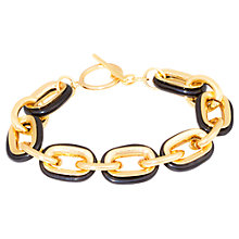 Buy Adele Marie Gold Black Links Bracelet, Gold Online at johnlewis.com