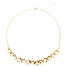 Buy Adele Marie Gold Plated Two Row Chain Necklace, Gold Online at johnlewis.com