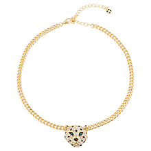 Buy Adele Marie Plated Diamante Leopard Head Pendant Necklace Online at johnlewis.com