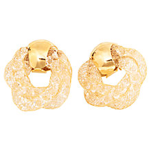 Buy Adele Marie Gold Plated White Crystal Earrings, Gold Online at johnlewis.com