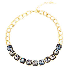 Buy Adele Marie Gold Plated Black Glass Necklace, Gold Online at johnlewis.com