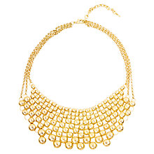 Buy Adele Marie Gold Plated 3 Row Ball Lattice Necklace, Gold Online at johnlewis.com