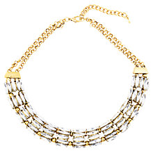Buy Adele Marie Antique Gold Plated Diamante Necklace, Gold Online at johnlewis.com