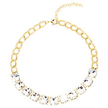 Buy Adele Marie Gold Plated Glass Necklace, Gold Online at johnlewis.com