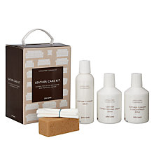 Buy John Lewis Semi Aniline & Pigmented Leather Cleaner & Care Kit Online at johnlewis.com