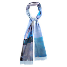 Buy Viyella Wool Abstract Print Scarf, Blue Online at johnlewis.com