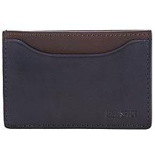 Buy Jack Spade Mitchell Leather Credit Card Holder, Navy/Chocolate Online at johnlewis.com