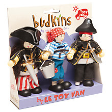 Buy Le Toy Van Budkins Pirate Figures, 3 Pack Online at johnlewis.com
