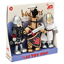 Buy Le Toy Van Knights Budkins Figures, 3 Pack Online at johnlewis.com