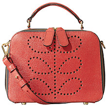Buy Orla Kiely Mini Bay Textured Leather Bag Online at johnlewis.com