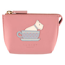Buy Radley Swimming Pretty Leather Coin Purse, Blush Online at johnlewis.com