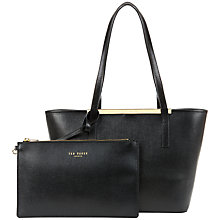 Buy Ted Baker Hailey Small Leather Shopper Bag Online at johnlewis.com