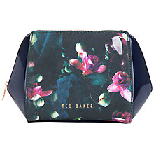 Buy Ted Baker Huggi Large Fuchsia Floral Wash Bag, Dark Blue Online at johnlewis.com