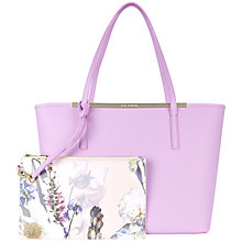 Buy Ted Baker Noelle Crosshatch Leather Shopper Bag Online at johnlewis.com