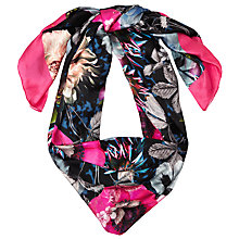 Buy Ted Baker Excess All Over Poppy Scarf, Navy/Pink Online at johnlewis.com