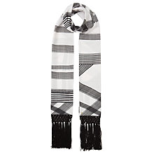 Buy Ted Baker Rache Monochrome Checked Skinny Scarf, Black/White Online at johnlewis.com
