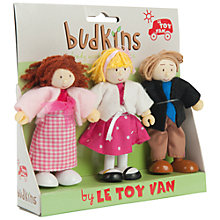 Buy Le Toy Van Budkins Family Figures, 3 Pack Online at johnlewis.com