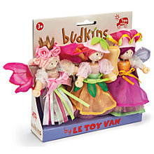 Buy Le Toy Van Garden Fairies Budkins Figures, 3 Pack Online at johnlewis.com
