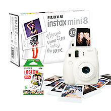 Buy Fujifilm Instax Mini 8 Instant Camera with 10 Shots of Film, Built-In Flash & Hand Strap Online at johnlewis.com