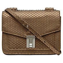 Buy Reiss Khy Exotic Mini Cross Bag, Gold Online at johnlewis.com