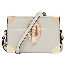 Buy Reiss Effren Box Shoulder Bag, Cream Online at johnlewis.com