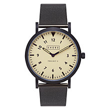 Buy Shore Projects W011S018 Unisex Barra Mesh Bracelet Strap Watch, Black Online at johnlewis.com