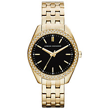 Buy Armani Exchange AX5510 Women's Sarena Stainless Steel Gold Bracelet Watch, Gold Online at johnlewis.com