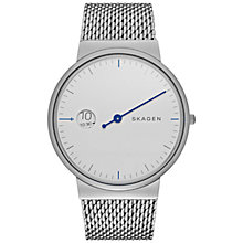 Buy Skagen SKW6193 Men's Ancher Mesh Bracelet Strap Watch, Silver Online at johnlewis.com