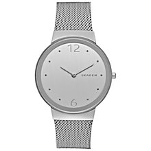Buy Skagen SKW2380 Women's Freja Mesh Bracelet Strap Watch, Silver Online at johnlewis.com