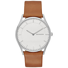 Buy Skagen SKW6219 Men's Holst Leather Strap Watch, Brown Online at johnlewis.com