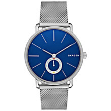 Buy Skagen SKW6230 Men's Hagen Mesh Bracelet Strap Watch, Silver Online at johnlewis.com