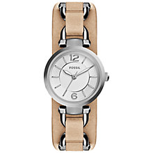 Buy Fossil Women's Stainless Steel Georgia Leather Strap Watch Online at johnlewis.com