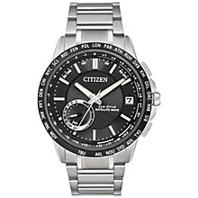 Buy Citizen CC3005-85E Men's Satellite Wave Bracelet Strap Watch, Silver/Black Online at johnlewis.com