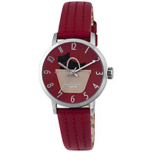 Buy Radley RY2287 Women's Border Leather Strap Watch, Red Online at johnlewis.com