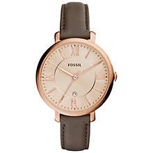 Buy Fossil Women's Jacqueline Stainless Steel Leather Strap Watch Online at johnlewis.com