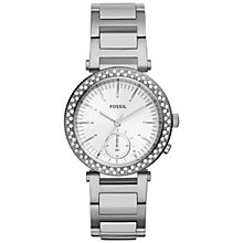 Buy Fossil Women's Stainless Steel Urban Traveler Bracelet Watch Online at johnlewis.com