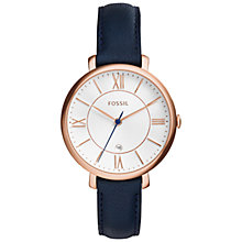 Buy Fossil Women's Jacqueline Leather Strap Watch Online at johnlewis.com