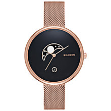 Buy Skagen SKW2371 Women's Gitte Stainless Steel Mesh Bracelet Strap Watch, Rose Gold Online at johnlewis.com