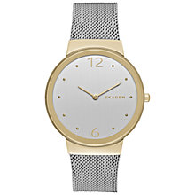 Buy Skagen SKW2381 Women's Freja Mesh Bracelet Strap Watch, Silver/White Online at johnlewis.com