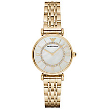 Buy Emporio Armani Women's Stainless Steel Bracelet Strap Watch Online at johnlewis.com